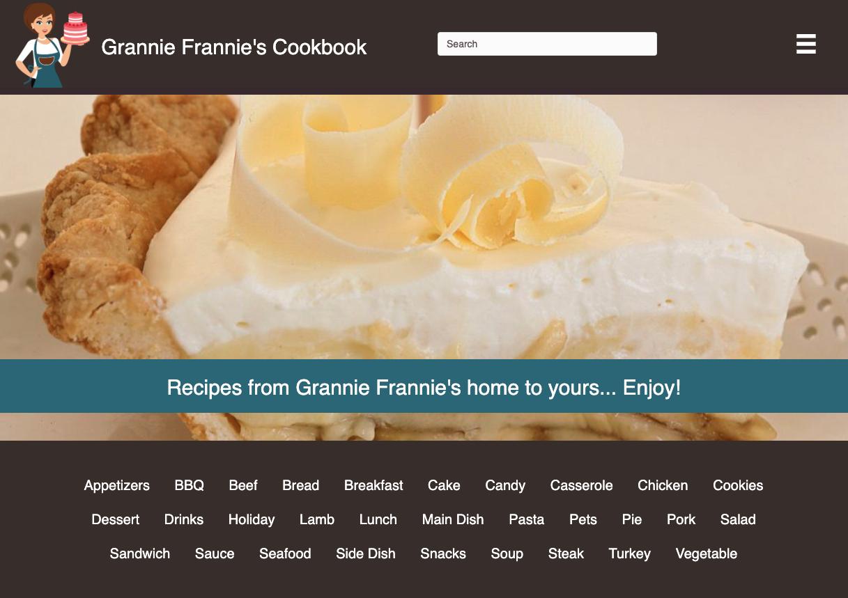 Grannie Frannie's Cookbook